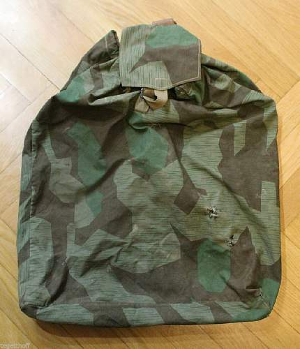 Period or postwar Rucksack / Backpack made of Zeltbahn and straps ?