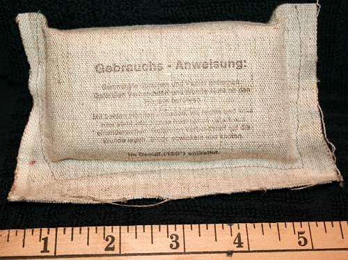 1944 dated Verbandspacken