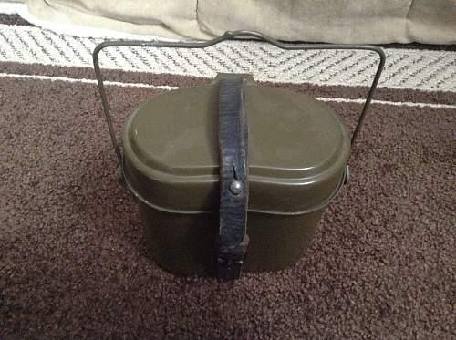 German WW2 mess tin, to nice to be real?