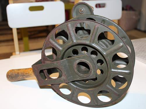 1938 Telephone Cable Hand Spool