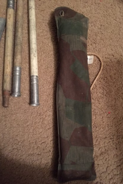 & splinter pattern tent pole carrying bag and tent poles