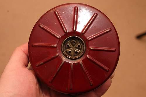 Red German Gas Mask filter