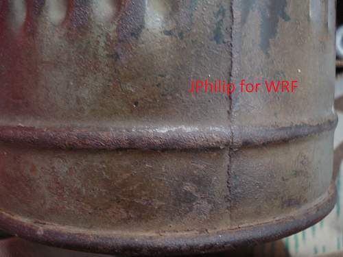 Camouflage gas mask canister - research question