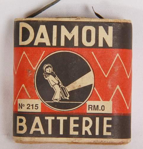 Daimon flashlight W/Daimon light bulb