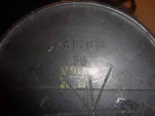 German? Hard Rubber Gas Mask Carrier