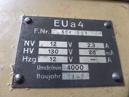 WW2 German EUa-4 Receiver Dynamotor for 10 W.S.Receiver