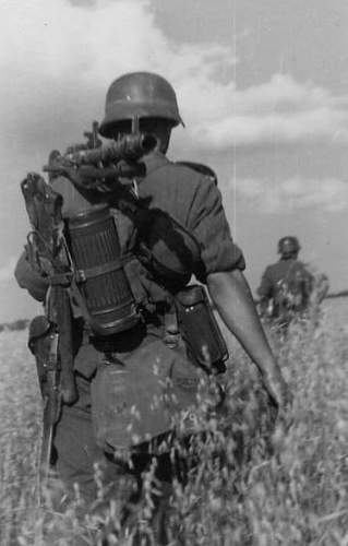 Interesting way to carry entrenching tool...