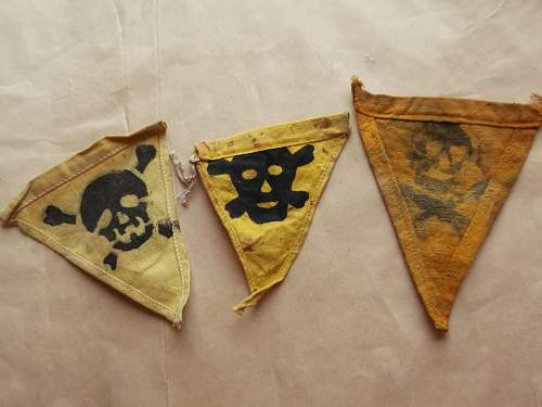 German mine  flag/marker