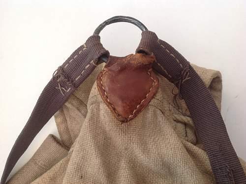 Home made rucksack. Post war shortages!