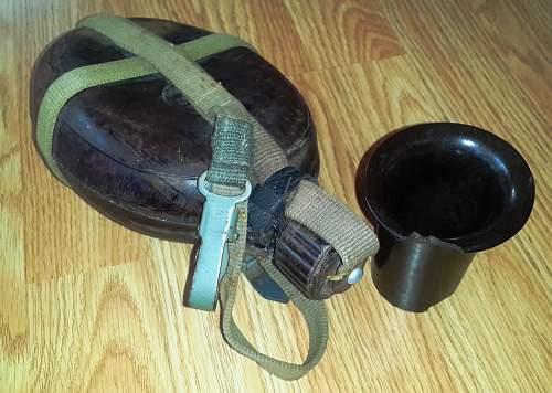 Afrikakorps Feldflasche  COMPLETE Coconut Canteen