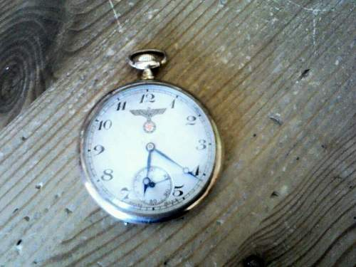 Pocket watch with eagle and swastika on face: fake or real?