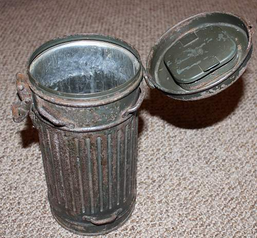 1st model short gas mask canister - 1936.