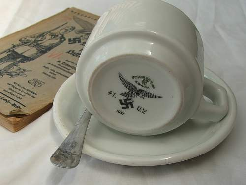 Luftwaffe coffee cup and saucer