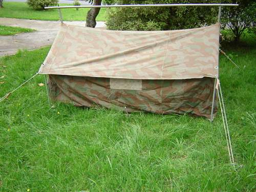 Gebirgsjaeger Small signals tent.
