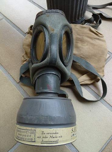Does the stamp on this gas mask look okay?