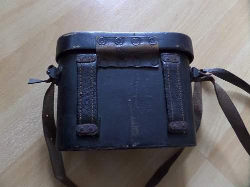 German ww2 6x30 binoculars late war wooden case?