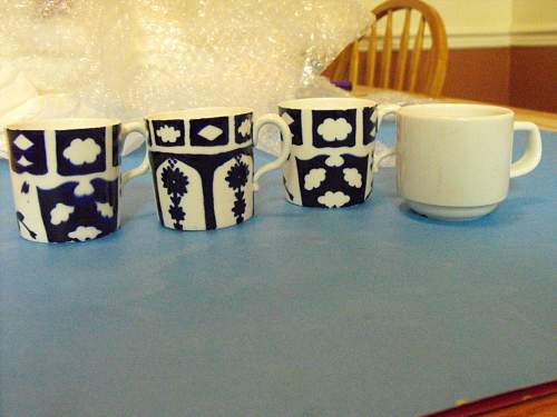 SS coffee cups, spoons and such.
