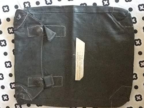 Gasmask cape bag. With  something inside