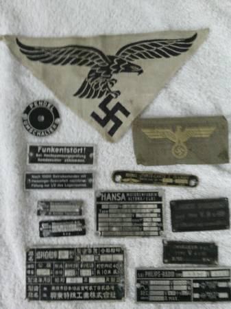 What is this Luftschraube Stellungsanzeige gauge/clock?  Also trophy tank tags?