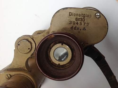 6x30 Dienstglas by DDX in Dunklegelb paint