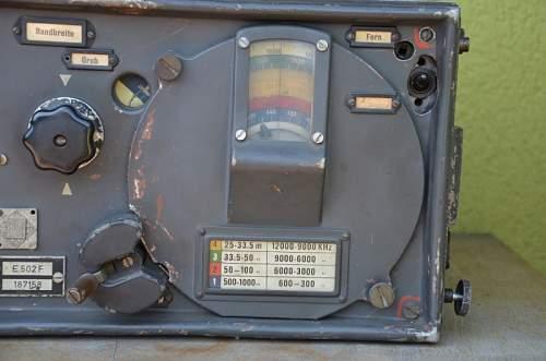 Luftwafe/Wermaht Telefunken receiver E 502 F