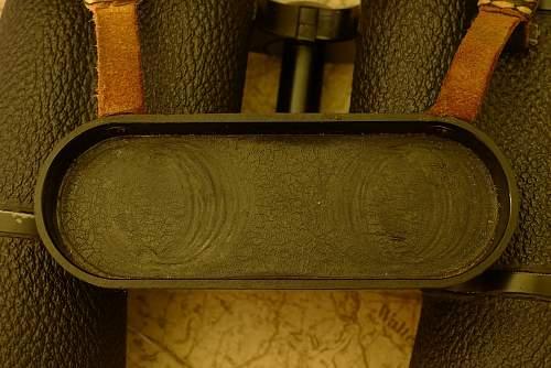 DIENSTGLAS!!! Nice Clean 1942 BEH E. Leitz 7x50  with Case, Strap, Waffen Proofed Bakelit Benuzer! And bonus!