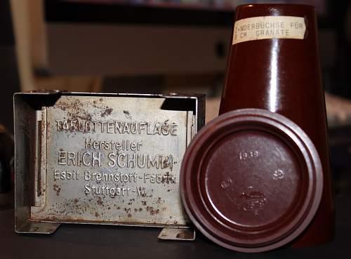 Flea market finds - Fuse case and Esbit