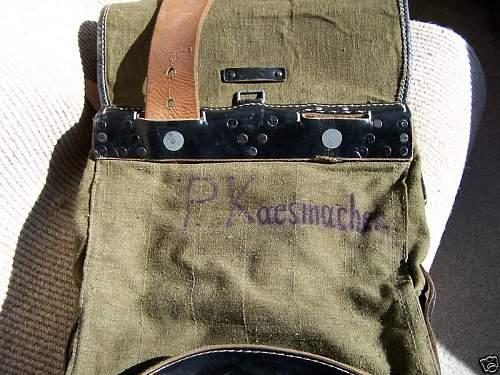 Damaged Original German Backpack