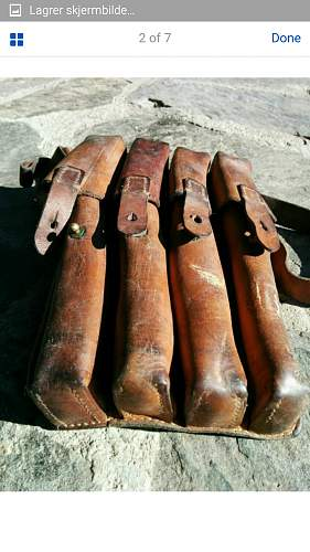 MP 40 leather pouches
