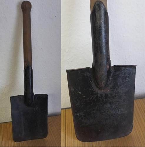 Is this a German wartime or postwar shovel?