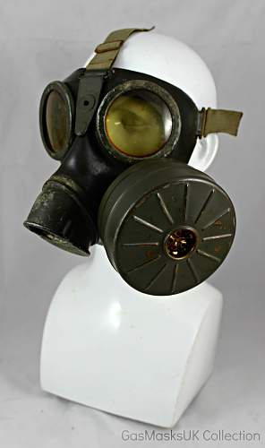 Unusual GM-38 Gas Mask with additional filter port