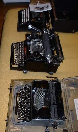 SS typewriters