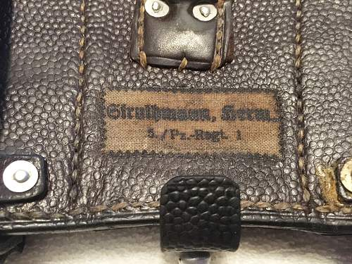 Help with Vet captured Panzer marked Ammo Pouch...