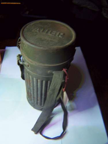 Can anyone identify this Nazi gas mask we found in a storage auction?