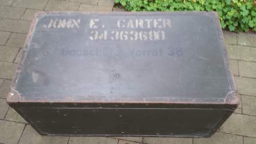 What to do with Gasschutz 38 case with American soldier name on