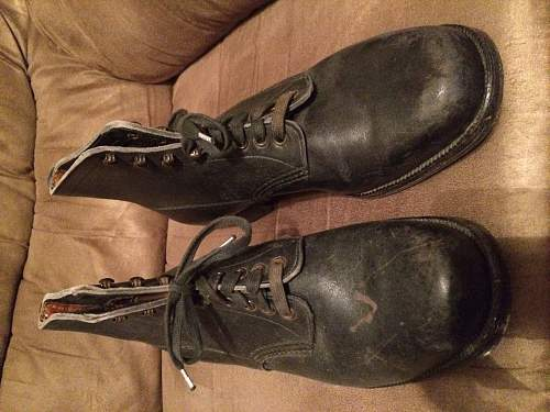 WW2 German ankle boots