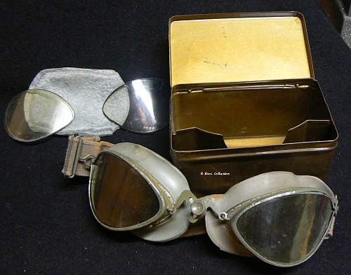 Windschutzbrille Model 306with Metal Issue Case