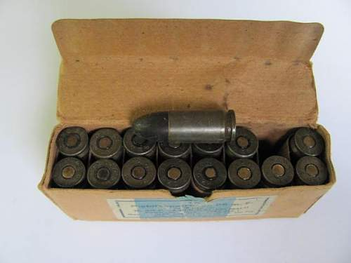 9 mm German amunition in original box
