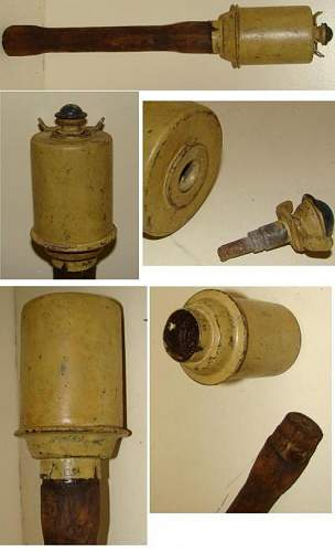 Click image for larger version.  Name:German M-43 stick hand grenade.JPG Views:959 Size:40.9 KB ID:95627
