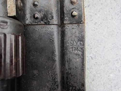 German folding entrenching tool