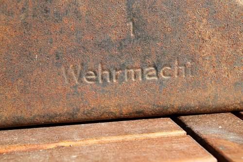 Wehrmacht Kraftstoff kanister Panzer-Abteilung Norwegen --