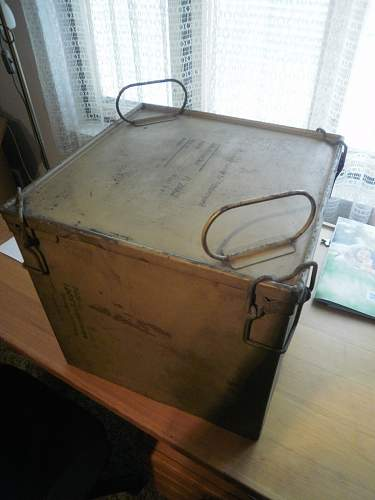 Container for a parachute