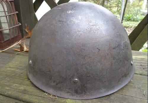 Found a Swedish helmet either M37 or Finnish copy M40