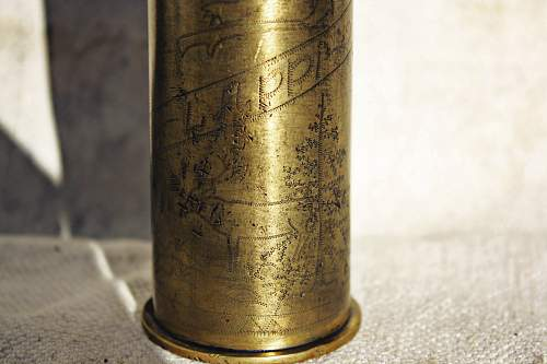 Trench art shell