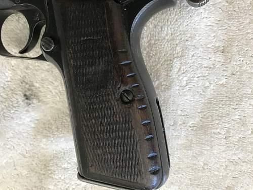 Prewar FN High Power with Finnish markings