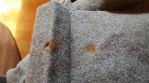 Cleaning rust stains...