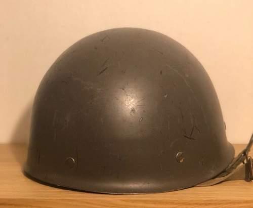 Finnish helmet, with swedish inside