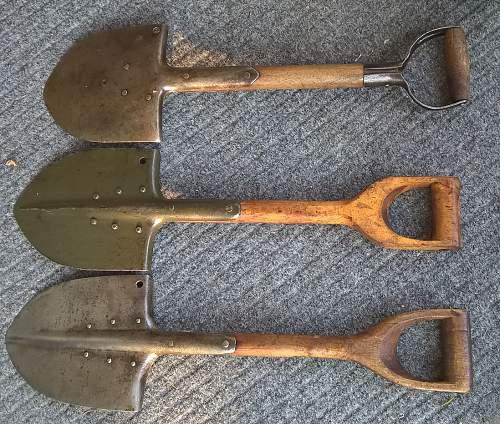 Finnish surplus shovels