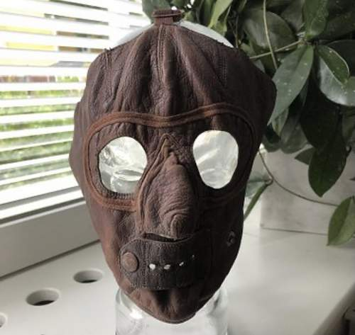 Original Cold weather pilots leather facemask?
