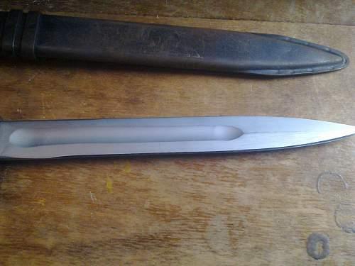 A close look at my assault rifle bayonet